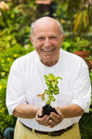 Senior Man Gardening Stock Photo - 5435857