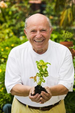 Senior Man Gardening Stock Photo - 5435857