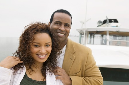 Couple on Yacht Stock Photo - 5435862