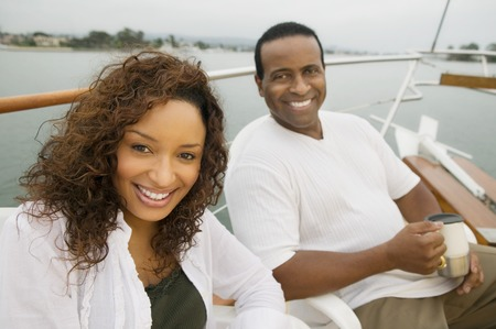 Couple on Boat Stock Photo - 5435866