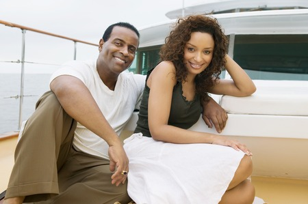 wealthy lifestyle: Couple on Yacht