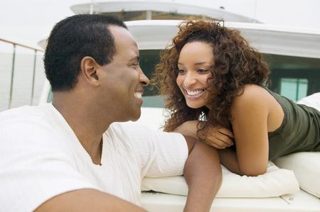Couple on Yacht Stock Photo - 5435868