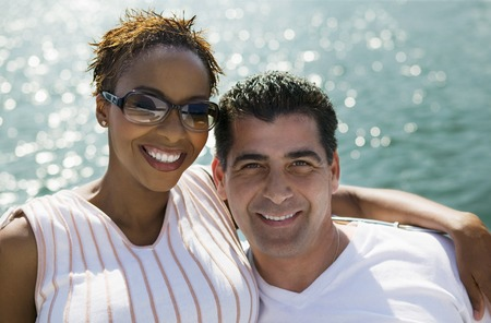 race relations: Couple on Boat