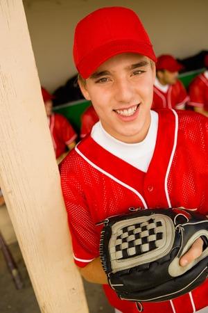baseball dugout: Jugador de b�isbol