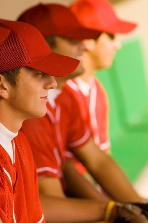 baseball dugout: Baseball Players in Dugout