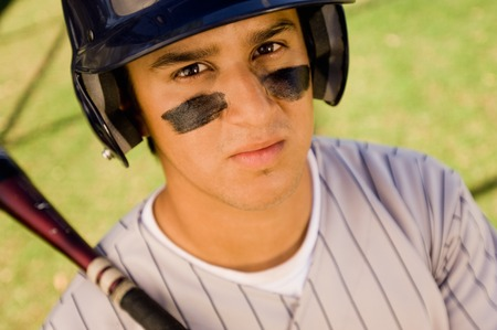 Baseball Player With Bat Stock Photo - 5435929