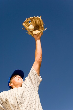 mitt: Baseball Player Catching Baseball
