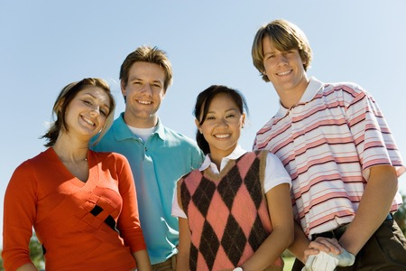 Friends Golfing Together Stock Photo - 5435973