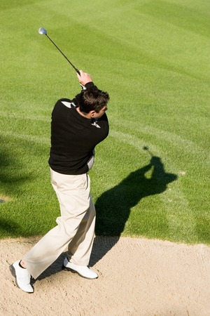 Golfer Watching Shot Stock Photo - 5435983