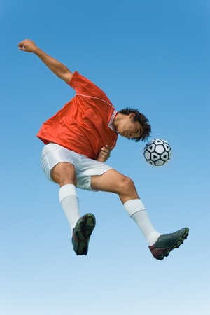 Soccer Player Heading Ball Stock Photo - 5436021