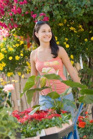 nurseries: Gardener Pushing Wheelbarrow LANG_EVOIMAGES
