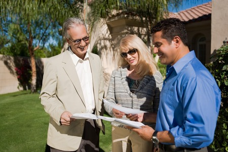 Couple with Real Estate Agent Stock Photo - 5436115