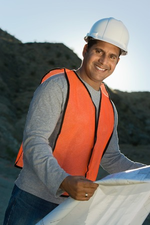 Builder with Plans Stock Photo - 5436128