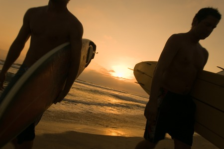 surfers: Surfers at End of Summer LANG_EVOIMAGES