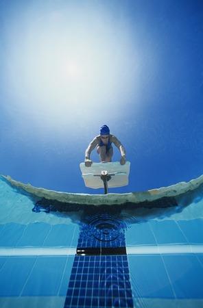 springplank: Diver voorbereiden Dive