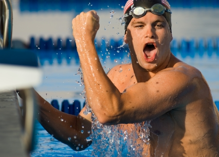 Competitive Swimmer Stock Photo - 5436234