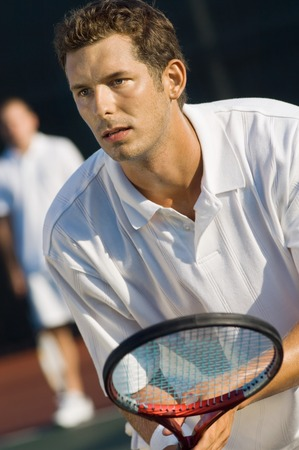 willpower: Tennis Player Waiting For Serve
