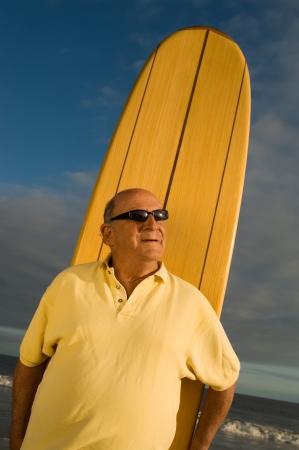 Senior Surfer Imagens