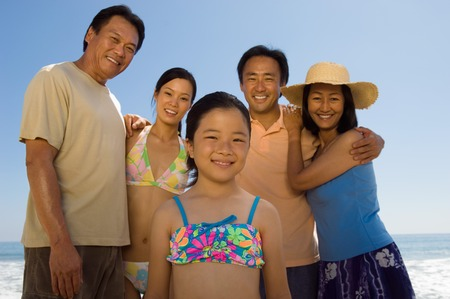 Family on Beach Stock Photo - 5436300