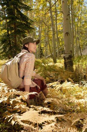 twentysomething: Hiker Resting LANG_EVOIMAGES