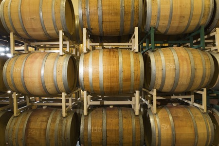 food storage: Wine Casks in row and stack