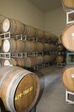Wine barrels in winery Stock Photo - 5438071
