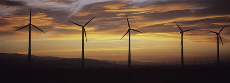 Wind Farm after Sunset Stock Photo - 5438080