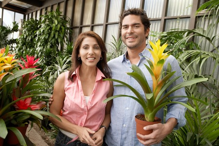 Couple at a Plant Nursery Stock Photo - 5438087