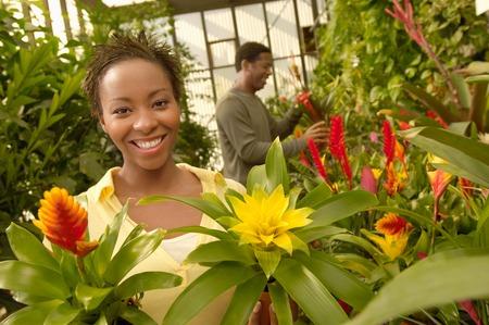 nurseries: Couple Choosing Plants at a Nursery