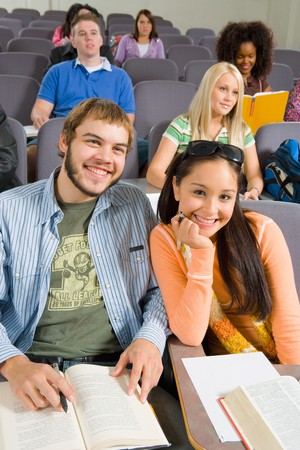 Students Listening to Class Lecture Stock Photo - 5438107