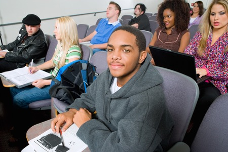 Students Sitting in Lecture Hall Stock Photo - 5438108