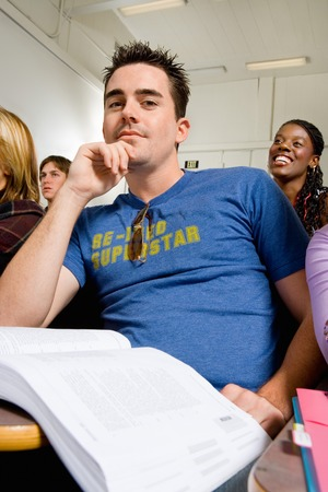 Student in Lecture Hall Stock Photo - 5438114