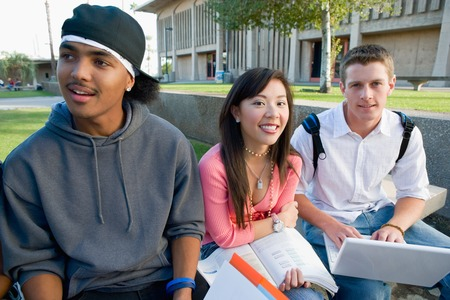 ethnic mixes: Friends Hanging Out Together at School