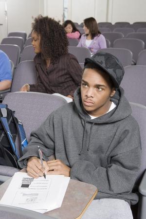 大学生の講堂での書き込み