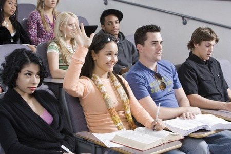 Group of University students in lecture hall Stock Photo - 5438146
