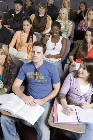 Group of University students in lecture hall Stock Photo - 5438154