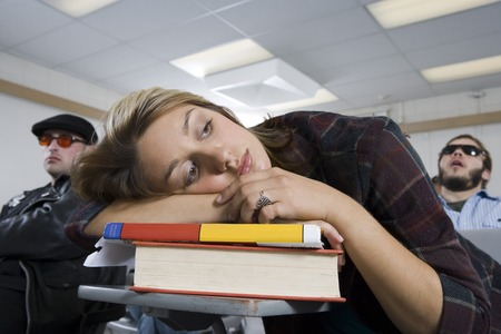 further education: University students in classroom