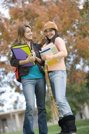 Two young female students Stock Photo - 5438207
