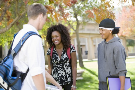 Young students having chat Stock Photo - 5438215