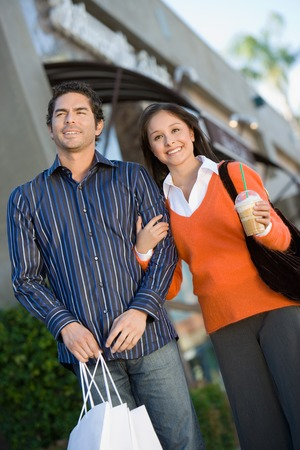 Couple with Shopping Bags Stock Photo - 5404630
