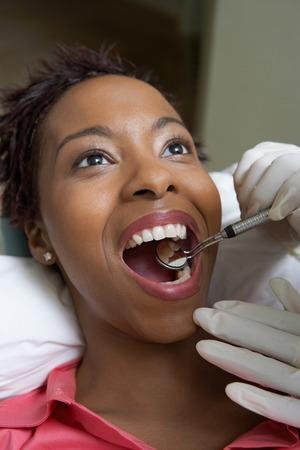 Woman Getting Dental Exam Stock Photo - 5404596
