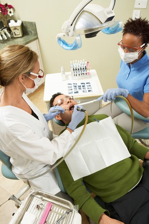 Man Getting Dental Work Done Stock Photo - 5404609