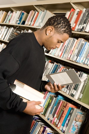 Young Man at the Library Stock Photo - 5438245