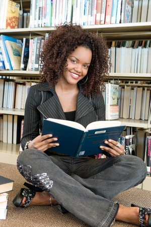 Young Woman at the Library Stock Photo - 5438247