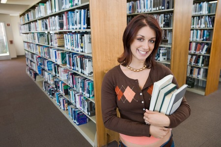College Student in Library Stock Photo - 5438275