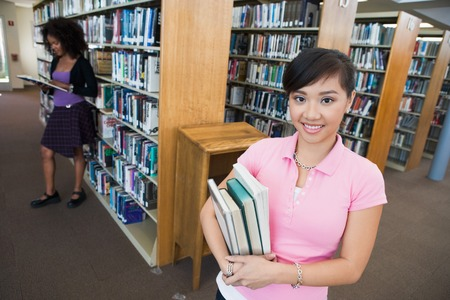 race relations: Students in the Library