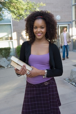 College Student on Campus Stock Photo - 5404545