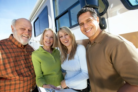 rv: Salesperson with People Shopping for an RV