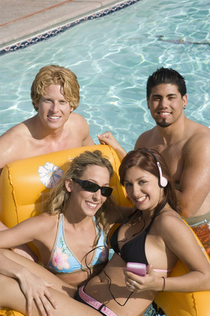 Group portrait in pool Stock Photo - 5404258