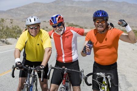 Senior men cycling Stock Photo - 5404373